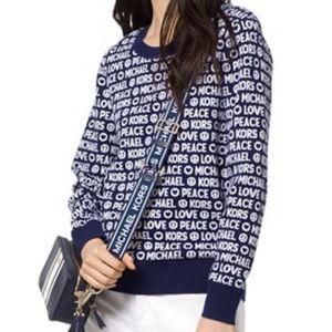Michael Kors Peace & Love Sweater, Size M